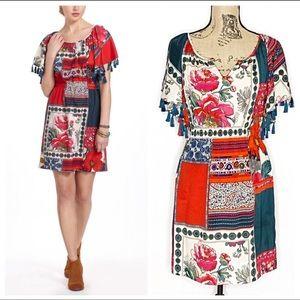 Anthropologie Vanessa Virginia Persian Rose dress